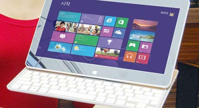 lg h160 une tablette clavier coulissant sous windows 8 et atom. Black Bedroom Furniture Sets. Home Design Ideas