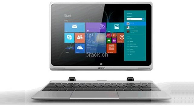 acer aspire switch sw5 une tablette windows avec dock clavier. Black Bedroom Furniture Sets. Home Design Ideas