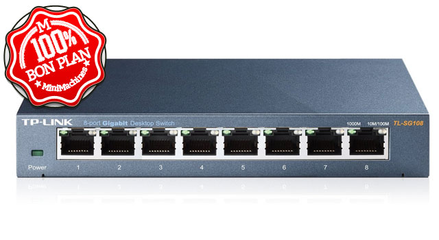 Switch TP-Link 8 ports Gigabit TL-SG108 boitier métal