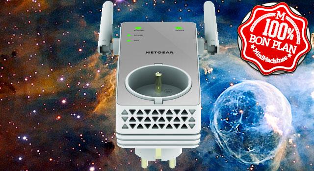 Bon Plan : Répéteur Netgear EX3800-100FRS WiFi AC750 à 39,99€