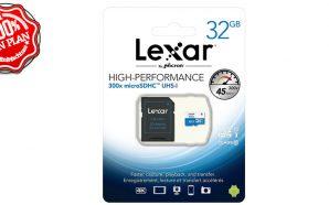 Bon Plan : Carte MicroSD LEXAR 32 Go 300x UHS…