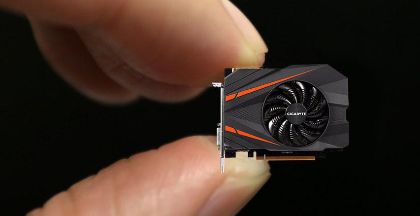 carte graphique mini itx Gigabyte GeForce GTX 1080 Mini ITX 8G, une carte de 16.9 cm de long