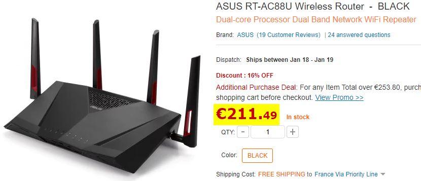 Routeur Wifi ASUS RT-AC88U