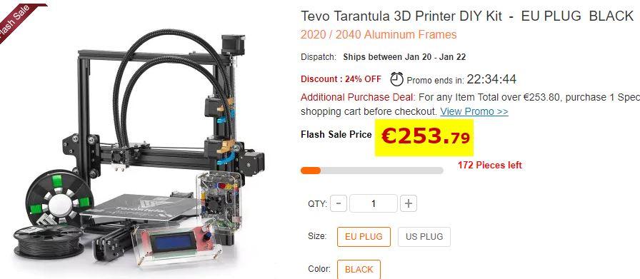 Imprimante 3D Tevo Tarantula i3