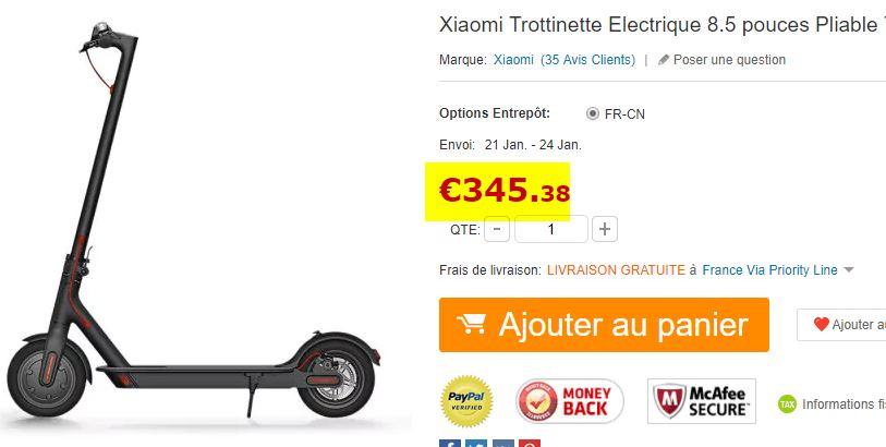 Trottinette électrique Xiaomi M187 Youth Edition