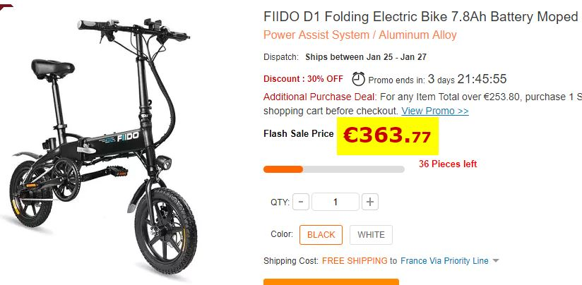 Vélo électrique FIIDO D1