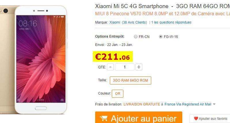Smartphone Xiaomi Mi 5C