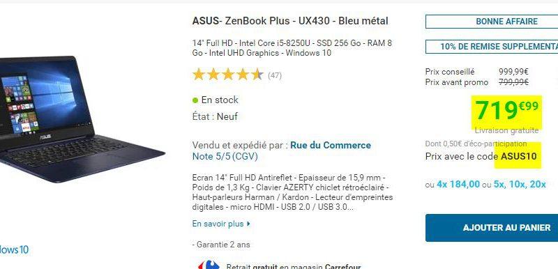 Ultrabook ASUS ZenBook Plus UX430 Bleu