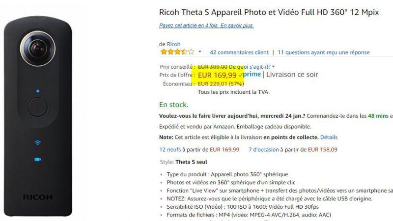 Camera Ricoh Theta S 360°