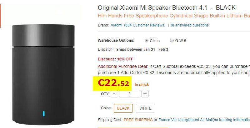 Enceinte Bluetooth Xiaomi Mi 4.1