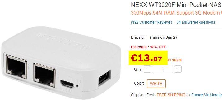 Routeur NEXX WT3020F Mini