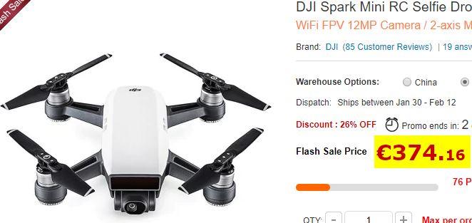 Drone DJI Mavic Spark Mini RC Selfie – BNF