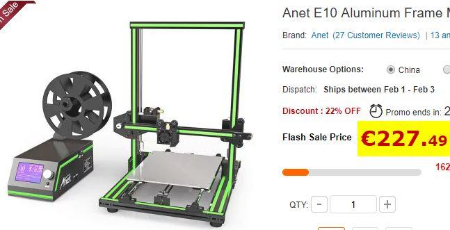 Imprimande 3D Anet E10