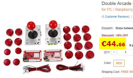 Kit Arcade double joysticks + boutons