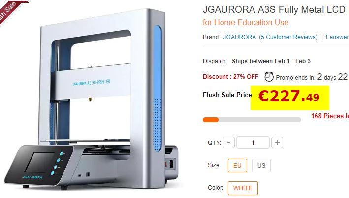 Imprimante 3D JGAURORA A3S