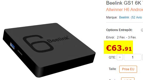 TV Box Beelink GS1