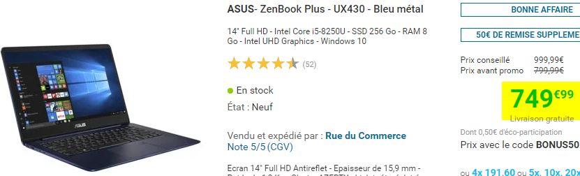 Ultrabook Asus Zenbook Plus UX430