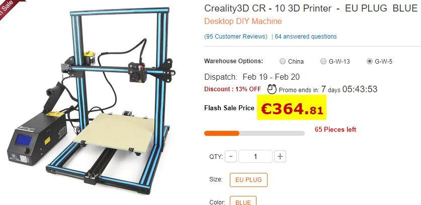 Imprimante 3D Creality CR-10 EU