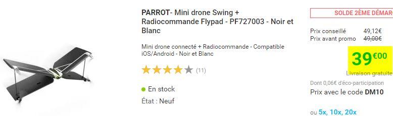 Drone Avion Parrot Swing + télécommande