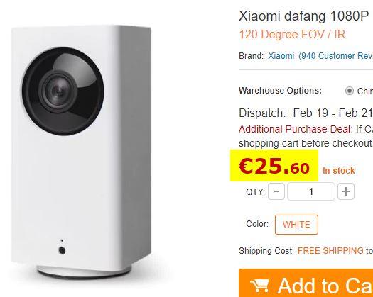 Camera surveillance Xiaomi Dafang