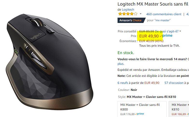 Souris Logitech MX Master