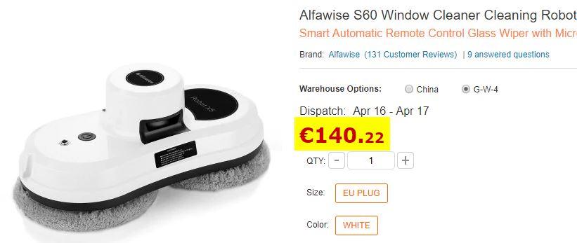 Robot Nettoyeur de vitres Alfawise S60
