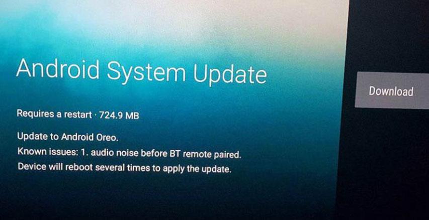 Mise à jour OTA vers Android Oreo pour la Xiaomi Mi Box TV