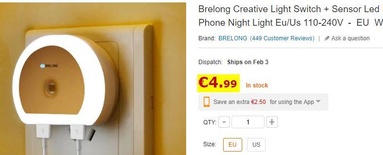 Lampe de chevet Brelong
