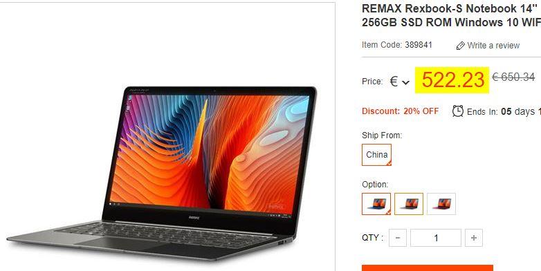 Remax Rexbook-S 8/256Go