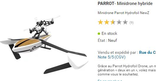 Drone aquatique Parrot Hydrofoil
