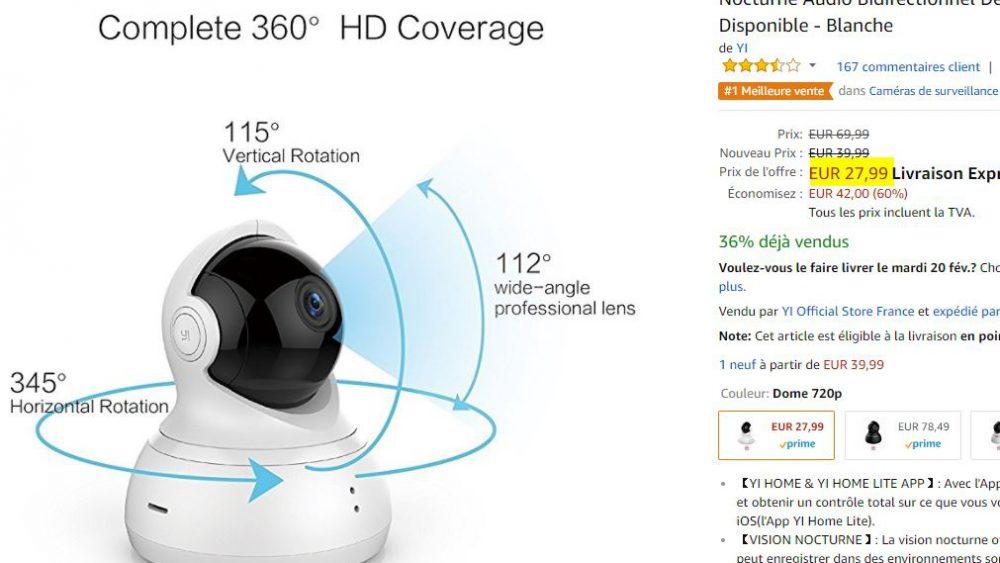 Camera surveillance 360 Yi