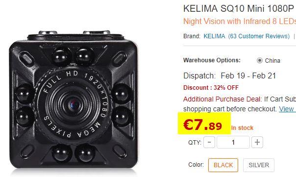 Mini caméra KELIMA SQ10