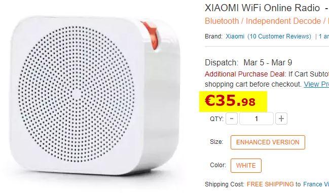 Radio connectée XIAOMI WiFi