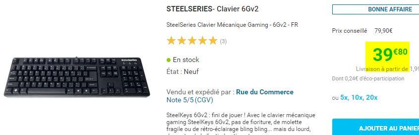 Clavier Steelseries 6GV2