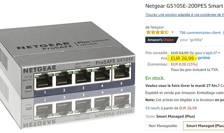 Switch Netgear GS105E-200PES