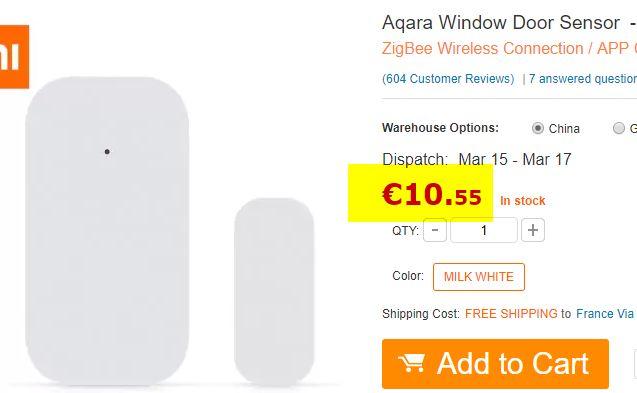 Détecteur d'ouverture Xiaomi Aqara