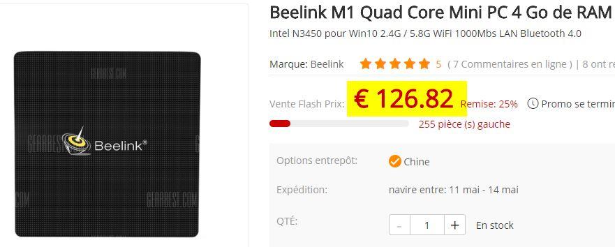 MiniPC Beelink M1 - N3450 - 4Go/64Go