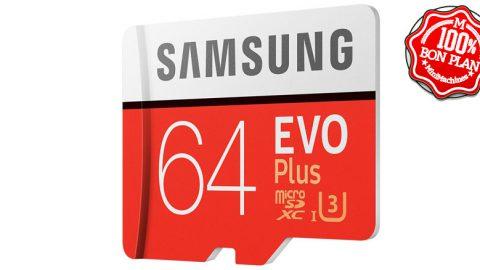 Carte mémoire MicroSDXC Samsung 64 Go EVO Plus