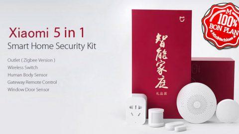 Kit domotique sécurité Xiaomi 5 in 1 Smart Home Security Kit