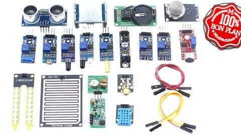 Kit de 16 capteurs et composants pour Raspberry Pi