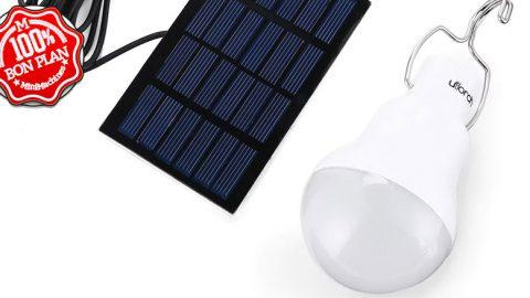 Lampe camping à panneau solaire