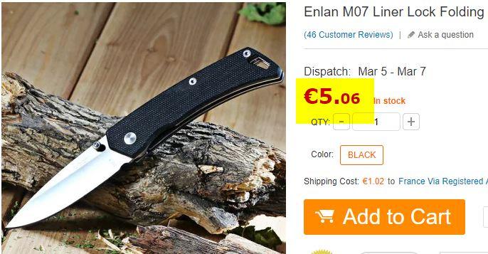 Couteau Enlan M07
