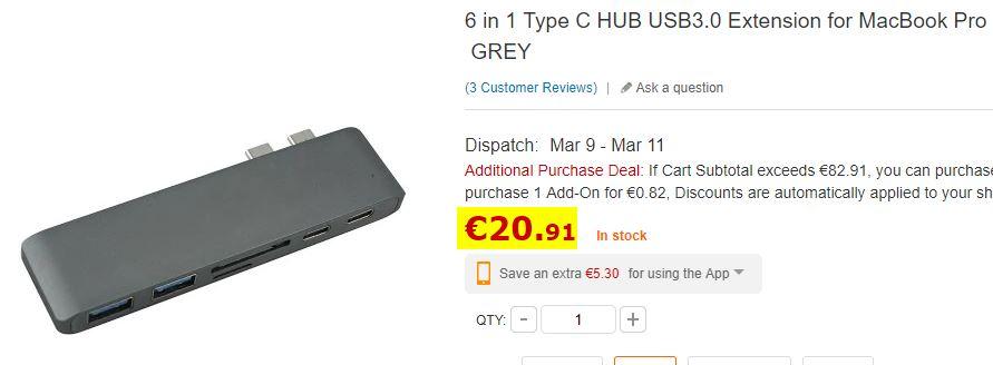 Hub USB Type C pour MacBook Pro