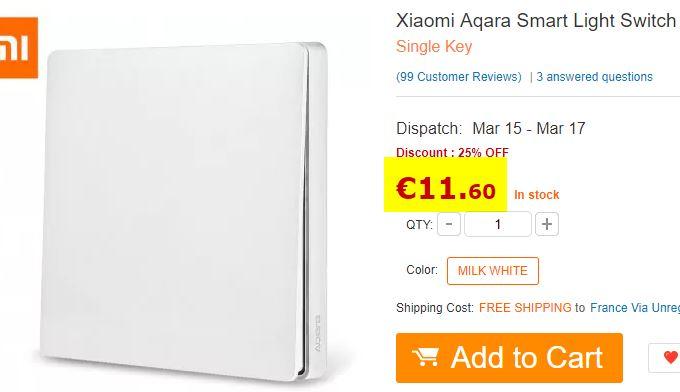 Interrupteur mural Xiaomi Aqara