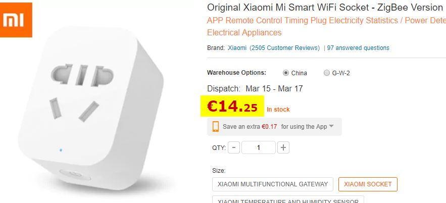 Prise connectée Xiaomi Zigbee