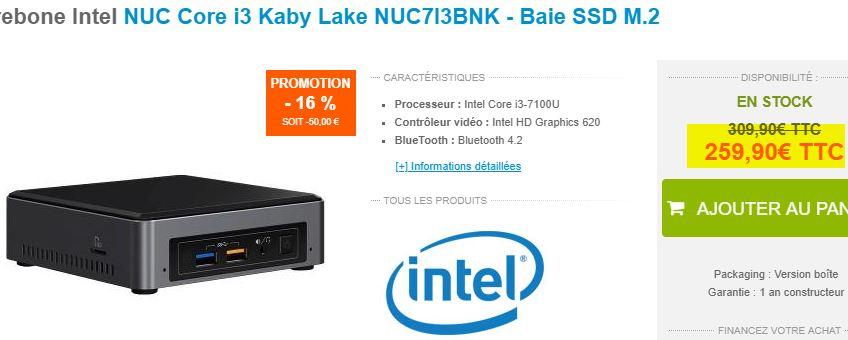 Intel NUC NUC7I3BNK Core i3-7100U (SSD M.2)