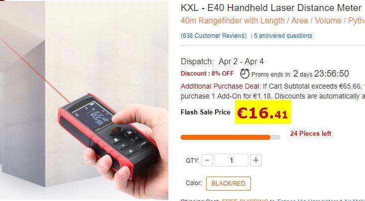 Télémètre laser KXL-E40
