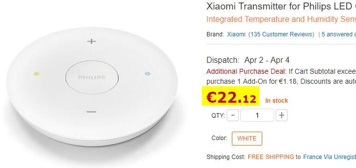 Télécommande Xiaomi / Philips pour plafonnier