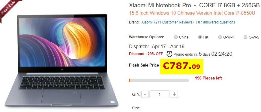 Ultrabook Xiaomi Pro 8Go/256Go  i7-8550U