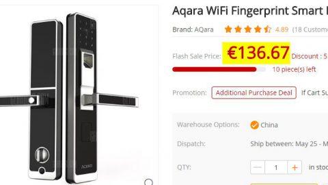 Poignée de porte biométrique Aqara - Ouverture à droite